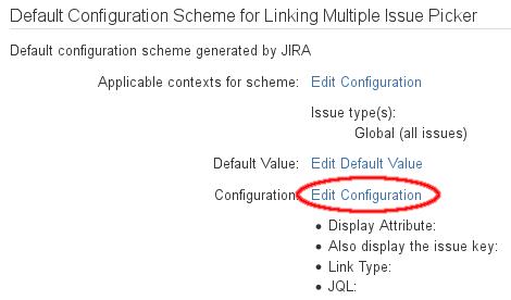 Configure Linking Multi Issue Picker Custom Field - v7 1 3 2