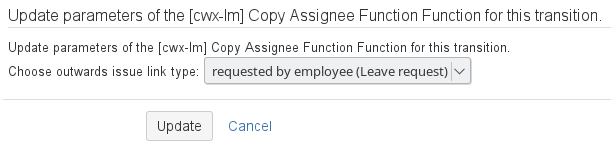 Provided Post-Functions - Leave Management
